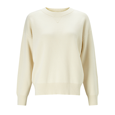 Kin by John Lewis Compact Cotton Jumper, Cream