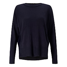 Buy Kin by John Lewis Reverse Seam Jumper, Navy Online at johnlewis.com