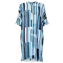 Buy Kin by John Lewis Painted Lines Oversized Dress, Blue Online at johnlewis.com