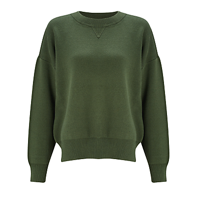 Kin by John Lewis Compact Cotton Jumper, Green