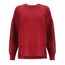 Buy Kin by John Lewis Reverse Seam Jumper, Red Online at johnlewis.com