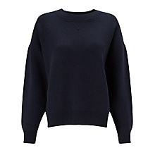 Buy Kin by John Lewis Compact Cotton Jumper, Navy Online at johnlewis.com