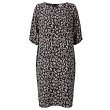 Buy Kin by John Lewis Herringbone Print Dress, Navy Online at johnlewis.com