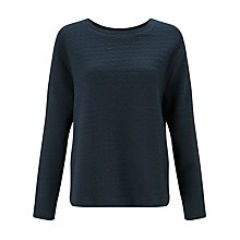 Buy Kin by John Lewis Textured Sweatshirt, Navy Online at johnlewis.com