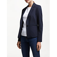 Buy John Lewis Hepburn Ponte Jacket, Navy Online at johnlewis.com