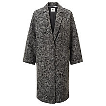 Buy Kin by John Lewis Shawl Collar Herringbone Coat, Black/White Online at johnlewis.com