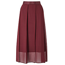Buy Kin by John Lewis Pleated Georgette Skirt, Red Online at johnlewis.com