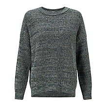 Buy Kin by John Lewis Twisted Yarn Jumper, Green Online at johnlewis.com