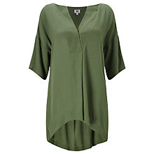 Buy Kin by John Lewis Oversized Top, Green Online at johnlewis.com