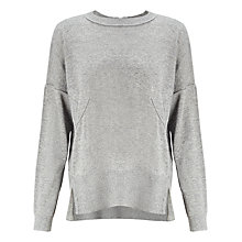 Buy Kin by John Lewis Reverse Seam Jumper, Grey Online at johnlewis.com