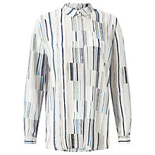 Buy Kin by John Lewis Painted Lines Print Shirt, Multi Online at johnlewis.com