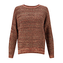 Buy Kin by John Lewis Twisted Yarn Jumper, Red Online at johnlewis.com