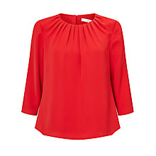 Buy John Lewis Pleat Neckline Top Online at johnlewis.com