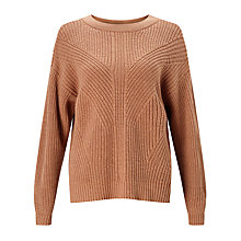 Buy Kin by John Lewis Twisted Rib Jumper, Cork Online at johnlewis.com
