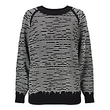 Buy Kin by John Lewis Pattern Jumper, Black/White Online at johnlewis.com