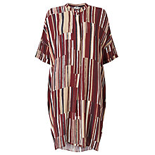 Buy Kin by John Lewis Painted Lines Oversized Dress, Red Online at johnlewis.com