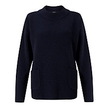 Buy Kin by John Lewis Pocket Jumper, Navy Online at johnlewis.com
