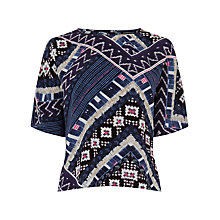 Buy Warehouse Patchwork Print Top, Multi Online at johnlewis.com