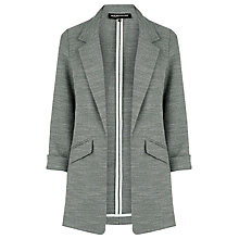 Buy Warehouse Textured Blazer, Light Grey Online at johnlewis.com