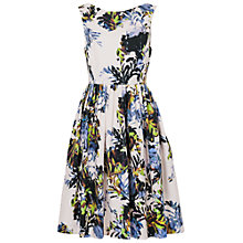 Buy French Connection Kiki Palm Sleeveless Flared Dress, Brule/Multi Online at johnlewis.com