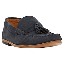 Buy Dune Berkeley Suede Loafer, Navy Online at johnlewis.com