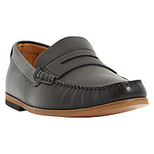 Buy Dune Baxter Penny Leather Loafer, Black Online at johnlewis.com
