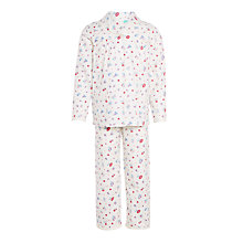 Buy John Lewis Girls' Vintage Rose Woven Pyjamas, Multi Online at johnlewis.com