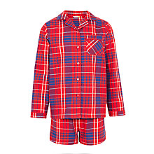 Buy John Lewis Girls' Woven Short Pyjamas, Red Online at johnlewis.com