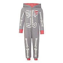 Buy John Lewis Children's Skeleton Onesie, Grey Online at johnlewis.com