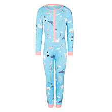 Buy John Lewis Children's Arctic Animals Onesie, Blue Online at johnlewis.com