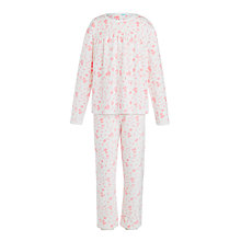 Buy John Lewis Girls' Velour Woodland Pyjamas, Cream Online at johnlewis.com