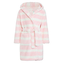 Buy John Lewis Girls' Stripe Dressing Gown, Pink Online at johnlewis.com