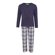 Buy John Lewis Girls' Long Sleeve Pyjama Set, Blue Online at johnlewis.com