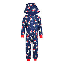 Buy John Lewis Children's Robin Print Onesie, Navy/Red Online at johnlewis.com