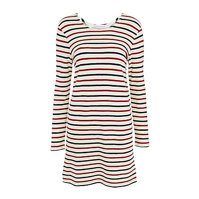 Samsoe & Samsoe Damas Stripe Dress, Breton Beet