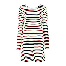 Buy Samsoe & Samsoe Damas Stripe Dress, Breton Beet Online at johnlewis.com