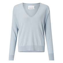 Buy Samsoe & Samsoe Edna V-Neck Jumper, Kentucky Blue Online at johnlewis.com