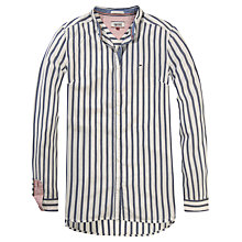 Buy Hilfiger Denim Long Sleeve Stripe Shirt, Navy Blazer/Egret Online at johnlewis.com