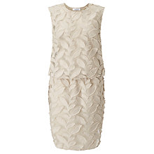 Buy Samsoe & Samsoe Mayer Embroidered Leaf Dress, Turtle Dove Online at johnlewis.com