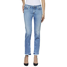 Buy Hilfiger Denim Mid Rise Released Hem Cropped Jeans, Fade Out Indigo Stretch Online at johnlewis.com