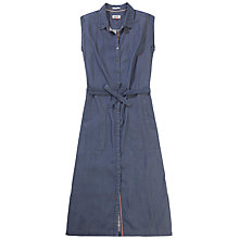 Buy Hilfiger Denim Sleeveless Denim Dress, Indigo Online at johnlewis.com