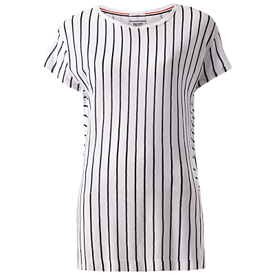Hilfiger Denim Vertical Stripe T-Shirt, Classic White/Navy Blazer