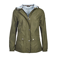 Buy Barbour Brae Waterproof Parka, Seaweed Online at johnlewis.com