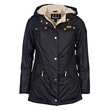 Buy Barbour International Flywheel Parka, Black/Natural Online at johnlewis.com
