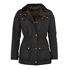Buy Barbour International Hawkstone Parka, Sage Online at johnlewis.com