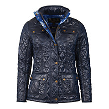 Buy Barbour Emma Quilt Jacket, Navy Online at johnlewis.com