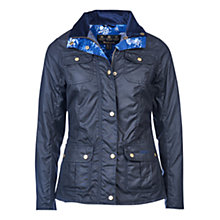 Buy Barbour Susannah Waxed Jacket, Navy Online at johnlewis.com