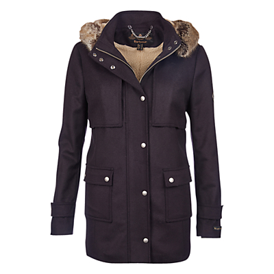 Barbour Fendorf Wool-Blend Jacket, Navy