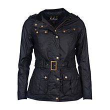 Buy Barbour International Goldwing Waxed Jacket, Black Online at johnlewis.com