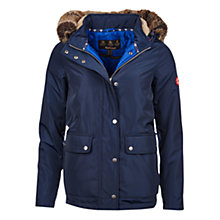 Buy Barbour Crevasse Jacket, Navy/Seablue Online at johnlewis.com